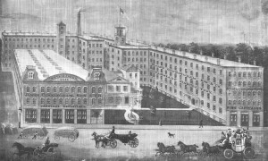 Cunningham Carriage Factory in 1882.