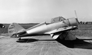 This Model GA-36 low wing trainer was made in 1934. No buyer was found so no other airplane of this type were built.