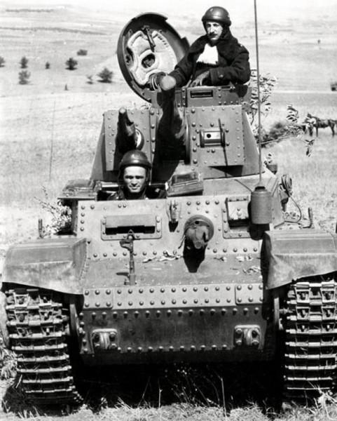 Болгарский царь Борис III в танке Skoda LT Vz. 35 - Pz.Kpfw 35 (t),