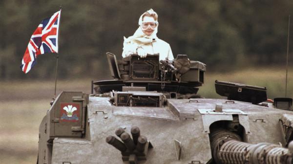 Thatcher in Challenger, 1986