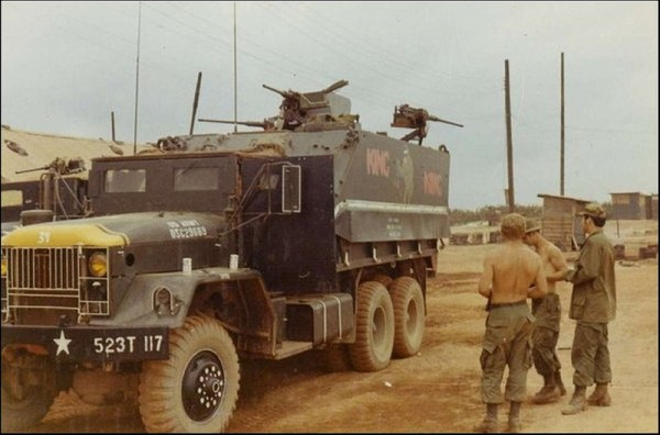 The yellow-nosed trucks of 8th Group were a familiar sign in convoys throughout the highlands.