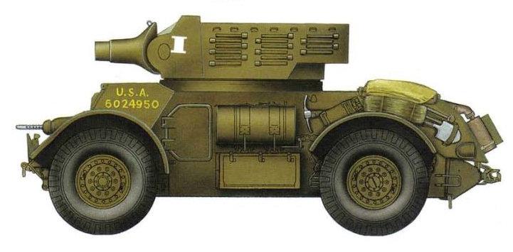 T17E3 с 75-мм гаубицей