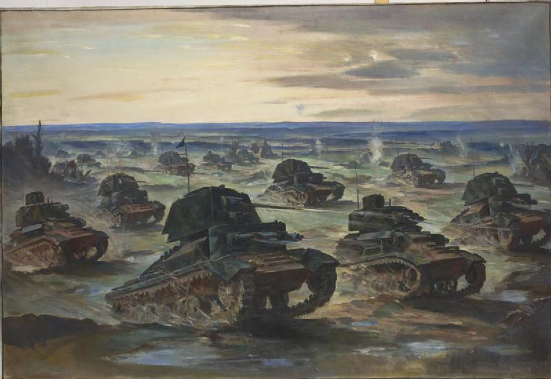 Our Mechanised Army - Tanks in action. Ministry of Information poster