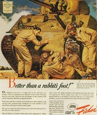1943 Fisher GM WWII war time print