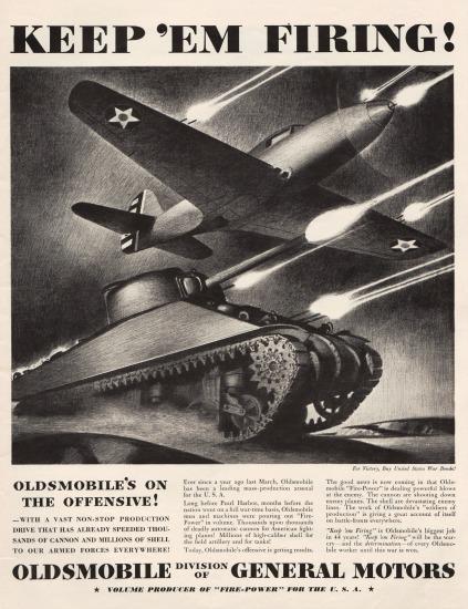 WWII Oldsmobile ad. Vintage ad Oldsmobile 1942