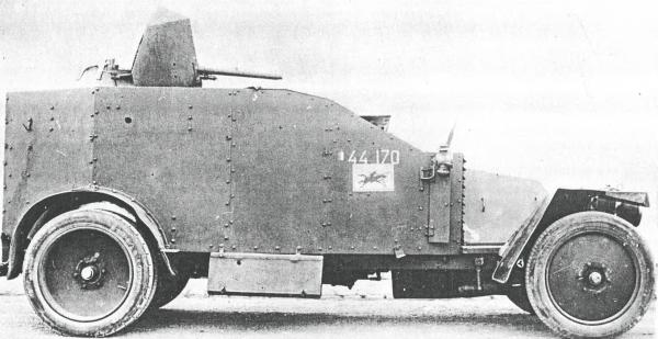Рено в 1932-ом с 13,2 мм пулемётом