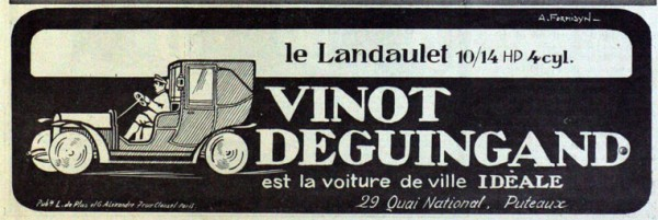 April 1908. Advert in French.