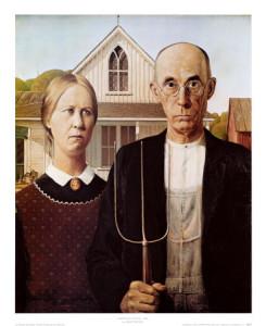 """Худ.кап.реализм Гранта Вуда \\""""Американская Готика\\"""" 1930 г."""