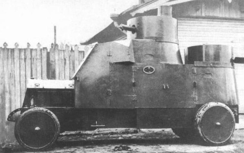"""Бронеавтомобиль """"Ллойд"""" 25-го автопулеметного взвода 1916 год"""