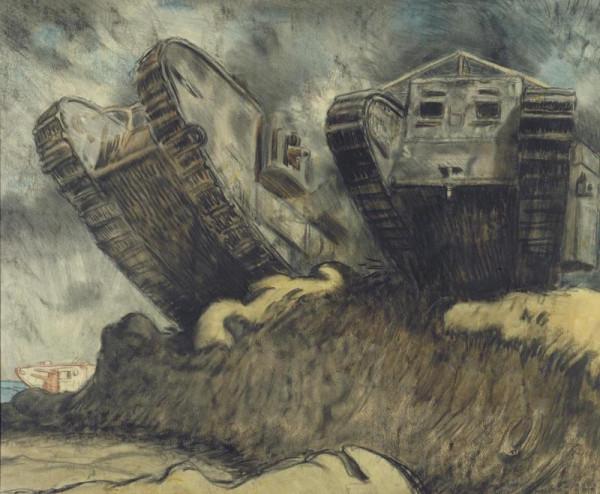 Sir William Orpen, Tanks, 1917.