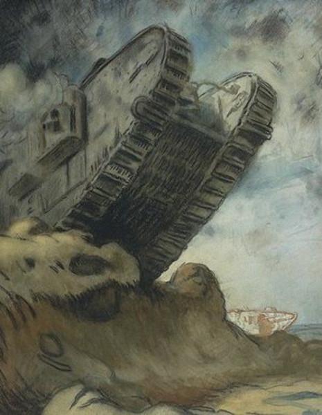 Sir-William-Orpen-R-A-R-H-A-xx-A-Tank-xx-Imperial-War-Museum