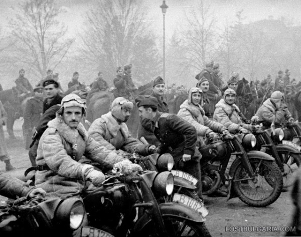 First Bulgarian Army, returned from the front after Stratsin first phase, Sofia, 1945