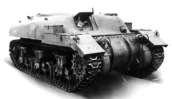 An example of a 'Ram' Kangaroo armoured personnel carrier