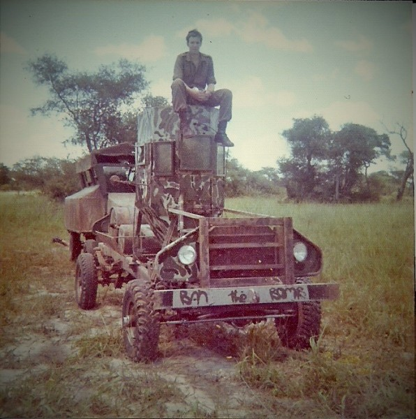 Ford F250 chassis fitted with a `telefoonhokkie` made of armour steel and glas. Singalamwe 1973-74.jpg