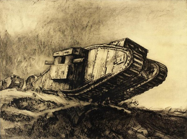 Muirhead Bone. Tanks (1918)