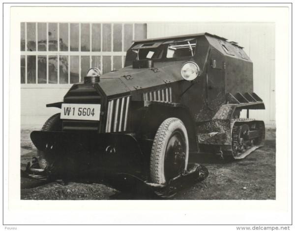 char tank blindé tirage photo ECPA véhicule Citroen type Q 1933 1934.jpg
