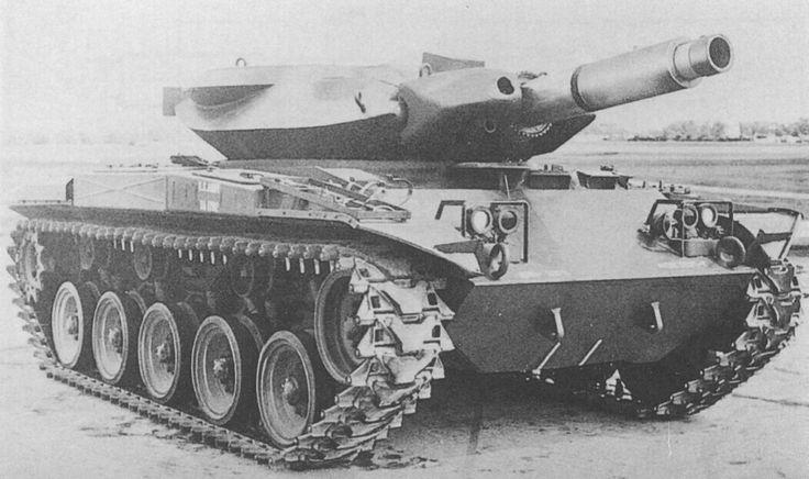 M41 Walker Bulldog hull with XM551 turret (Sheridan prototype).jpg