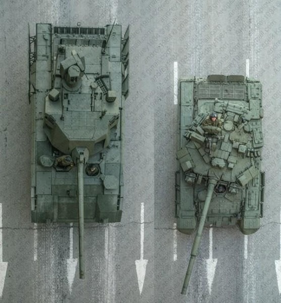 T-14 Aрмата и T-90A вид сверху.jpg