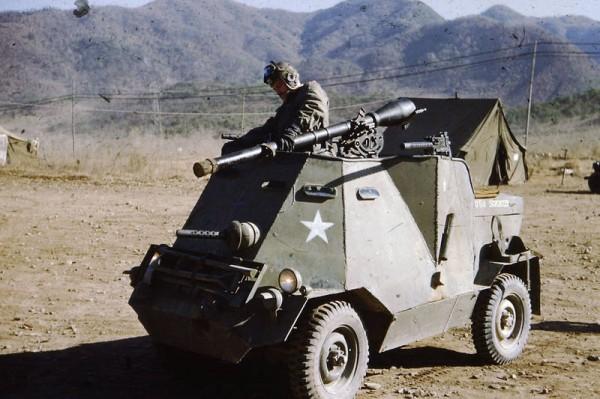 Корейская война. 1952.США. Броне-самоделка из джипа