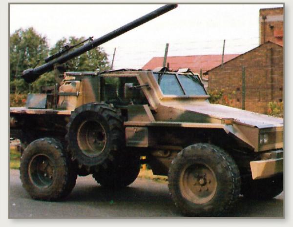 Mamba Mk I – Sabre 4x4 weapon platform (Mechem, 1993).