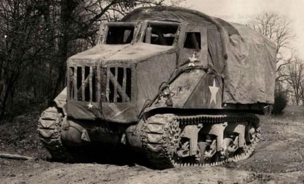 Маскировка Шермана под грузовик