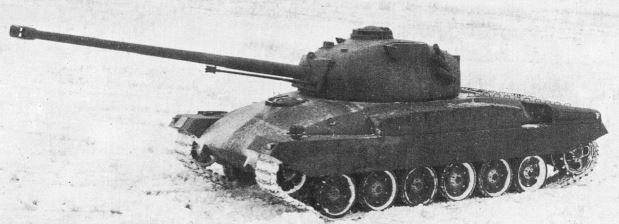 1st prototype Pz.58 of 1958 mounting 90 mm gun