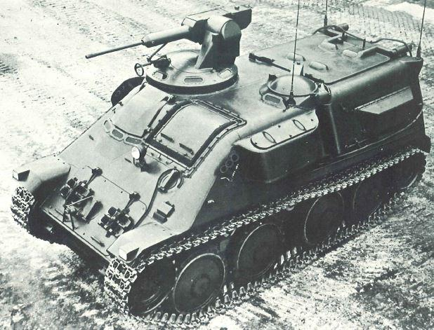 Prototype of Pbv.301 with a 20mm gun - 1957