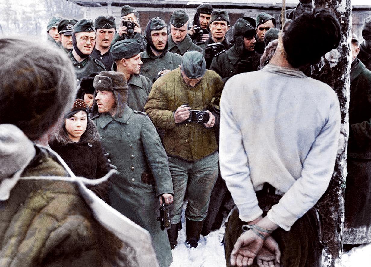 Казнь партизан архивные фотографии