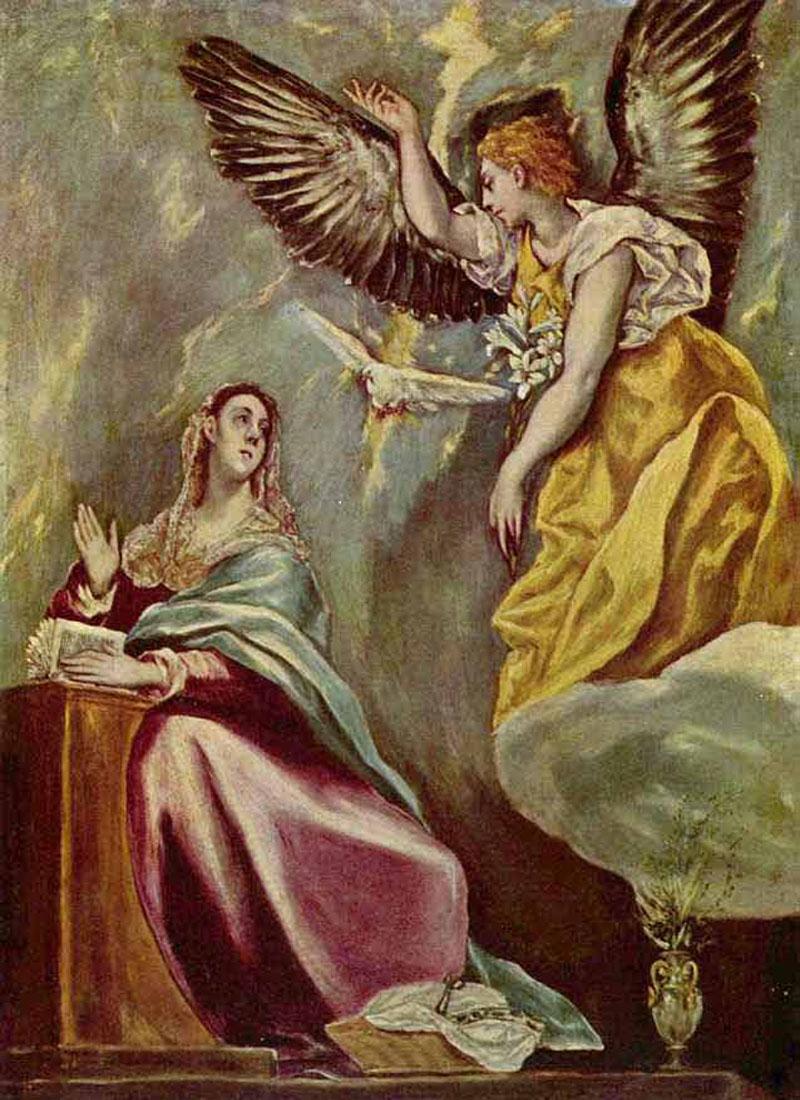 1600-е Эль Греко. Благовещение. Большой оригинал, опередивший время