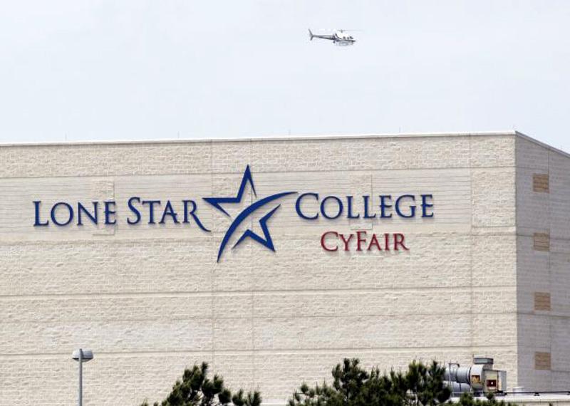 Вертолёт над колледжем Lone Star