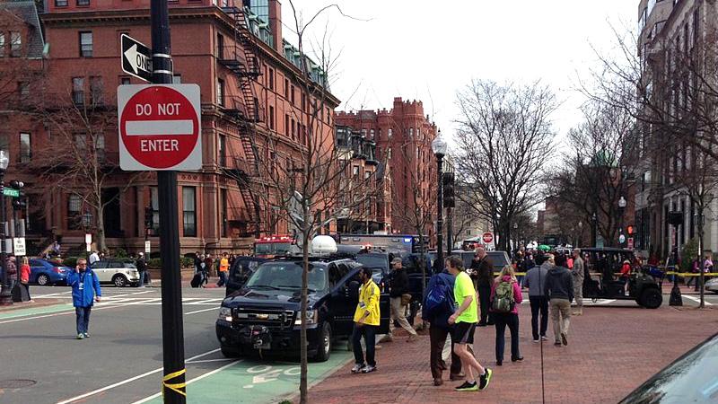 Взрыв на финише Бостонского марафона