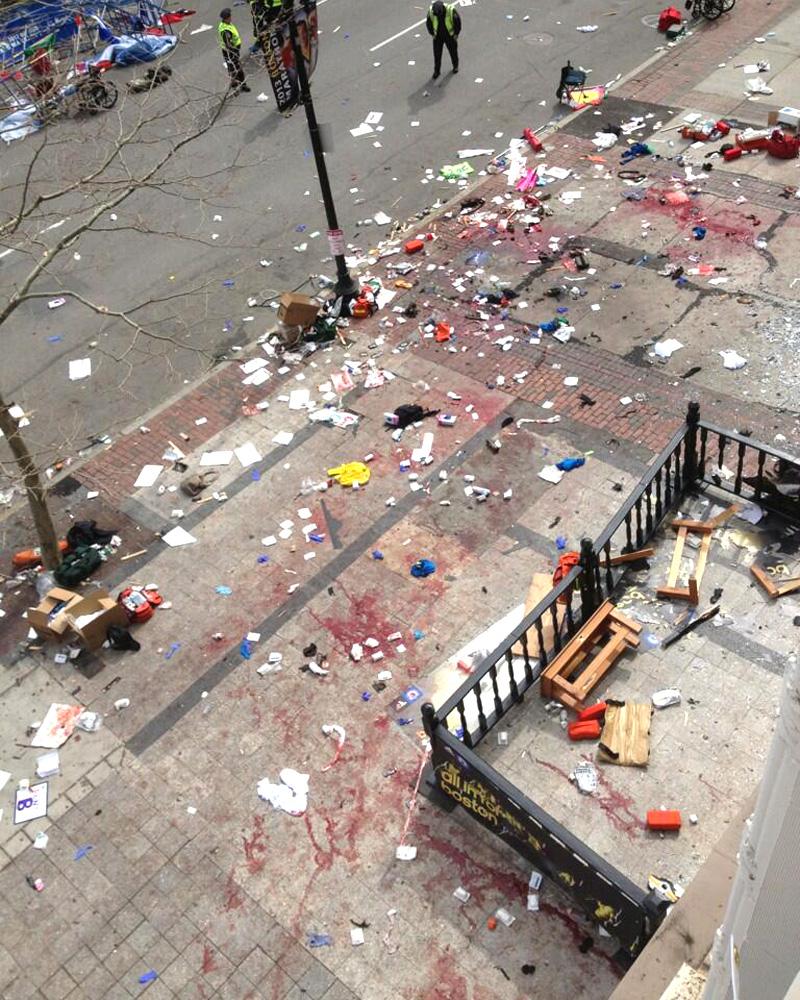 Место трагедии в Бостоне