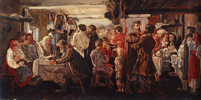 Андрей Рябушкин. Крестьянская свадьба