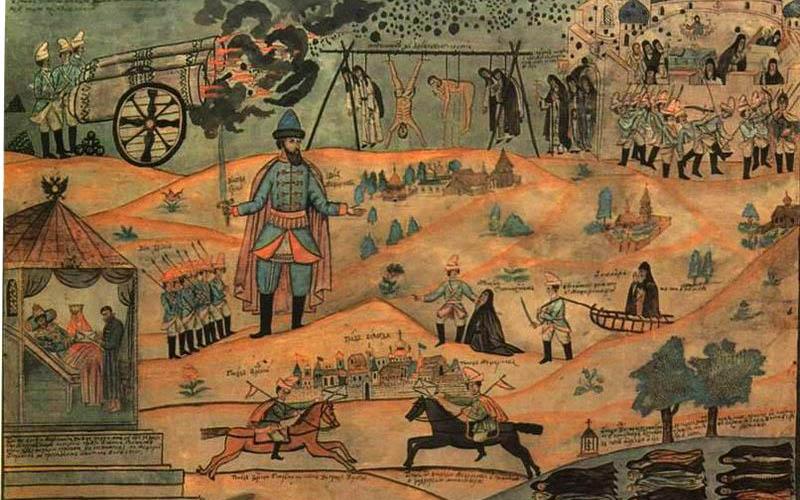 Воевода Мещеринов подавляет Соловецкое восстание