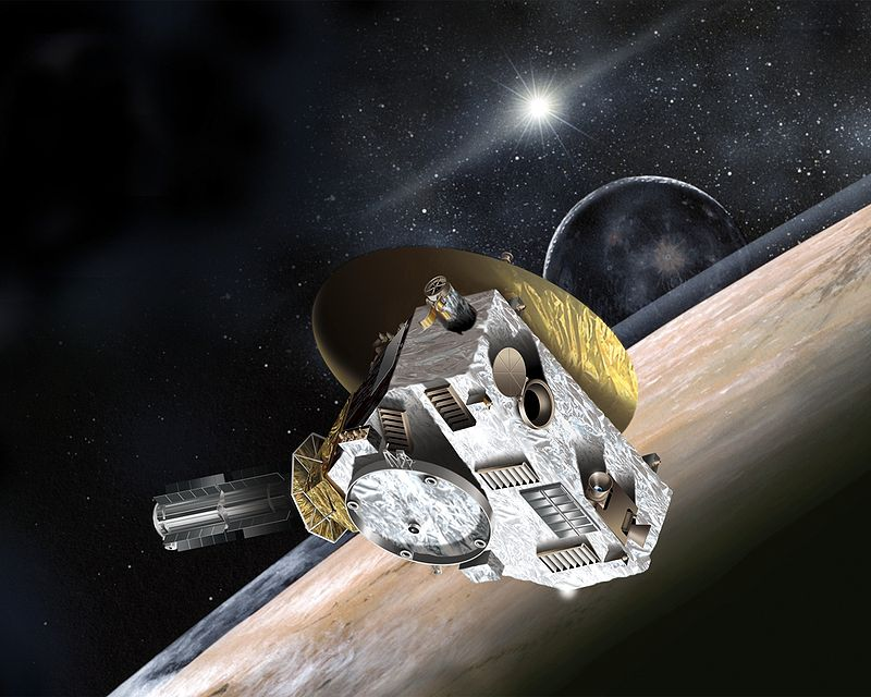 «Новые горизонты», пролетающий вблизи Плутона. Красиво, но не совсем реально