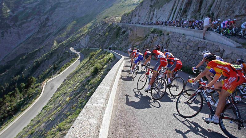 Спуск велосипедистов