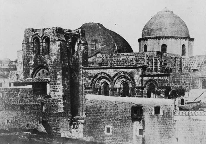 Храм Гроба Господня в 1856 году