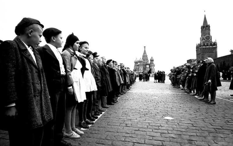 Приём в пионеры на Красной площади