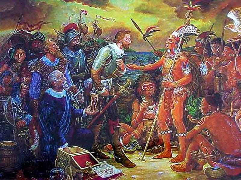 Встреча Понсе де Леона и индейцев