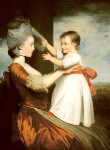Elizabeth Mortlock and her son John by John Downman
