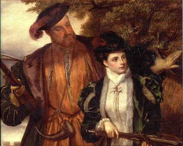 Henry VIII and Anne Boleyn Hunting at Windsor Forest