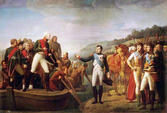 Джоакино Серанжели. Прощание Наполеона с Александром I после Тильзитского мира 9 июля 1807 г