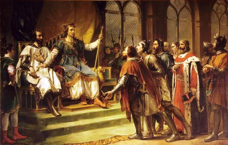 Жорж Руже. Людовик Святой заключает соглашение между Генрихом III и его баронами