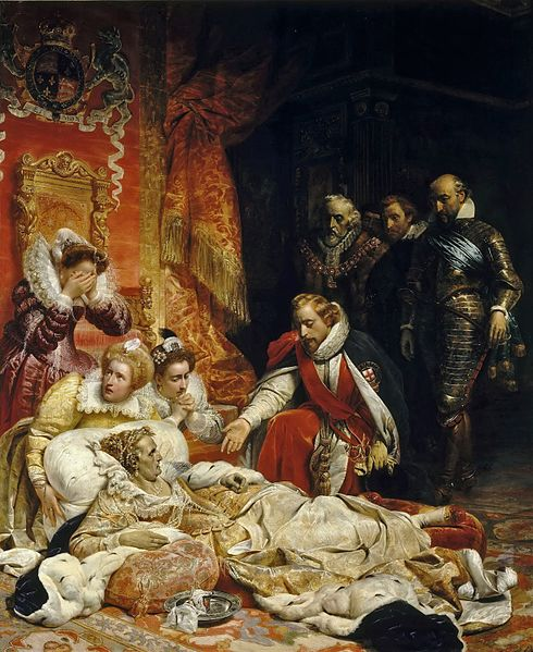 Paul Delaroche. The Death of Elizabeth I, Queen of England
