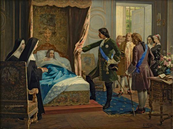 Петр I посещает госпожу Ментенон