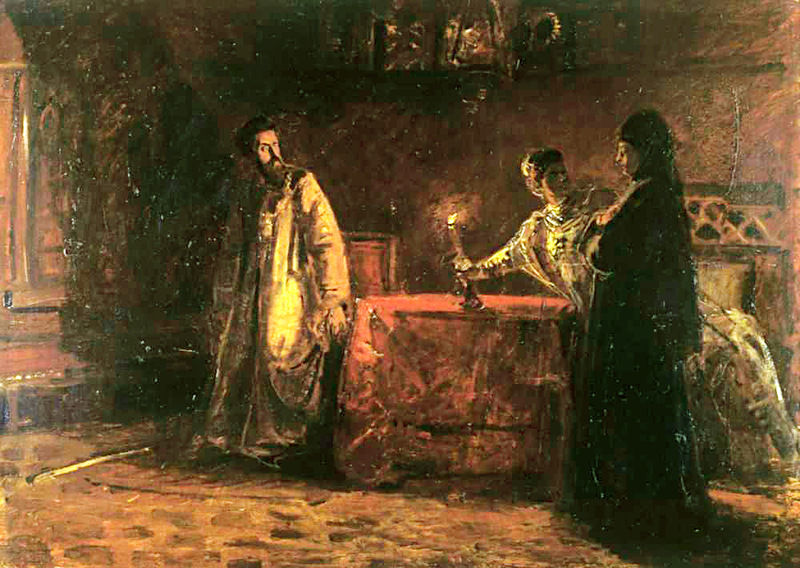 Борис Годунов и царица Марфа
