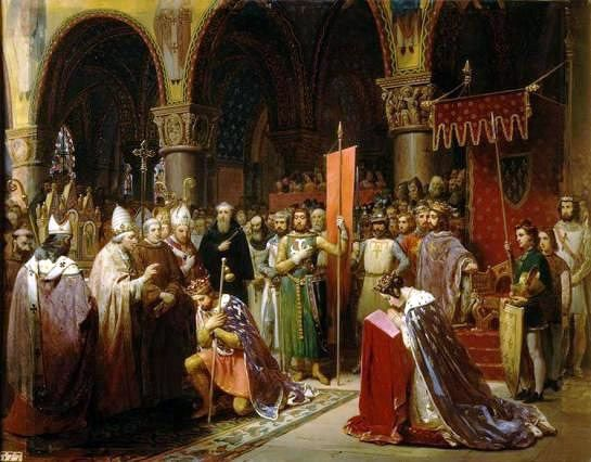 Jean-Baptiste Mauzaisse - Louis VII Taking the Banner in St. Denis
