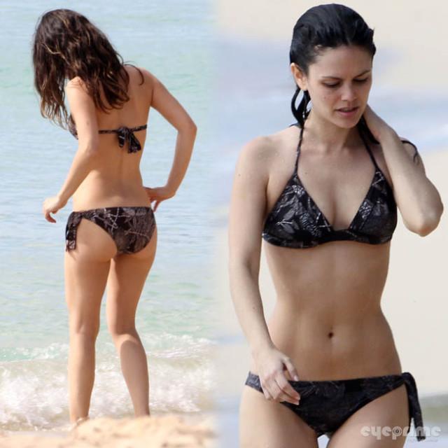 Rachel Bilson in a Bikini with Hayden Christensen on the ...