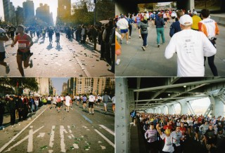 during the running. streets of ny.
