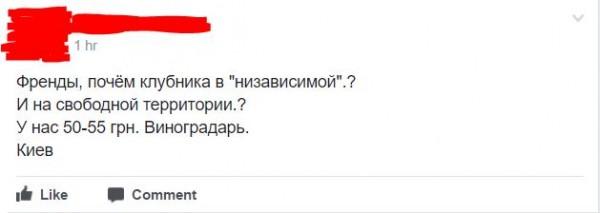 Цены на клубнику в Украине и в оккупации